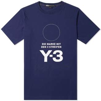 Y-3 Y 3 Stacked Logo Tee