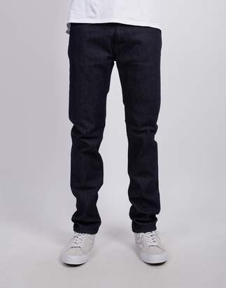 Edwin ED-80 Slim Tapered Jeans, CS Red Listed Rinsed Blue Denim
