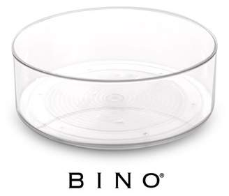 Lazy Susan BINO Turntable Spice Organizer Bin, Clear and Transparent Plastic Rotating Tray For Kitchen Pantry, Cabinet, and Countertops