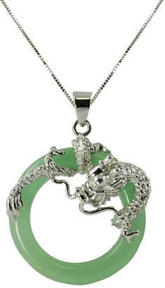 Dragon Optical FINE JEWELRY Green Jade Circle & Pendant Necklace
