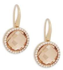 Roberto Coin Diamond, Crystal and 18K Yellow Gold Doublet Drop Earrings