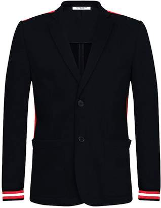 Givenchy Black Felpa Jacket With Contrasted Bands