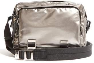 Prada Metallic Nylon Cross Body Bag - Mens - Silver
