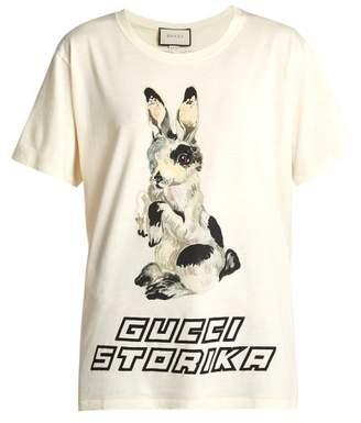 Gucci Rabbit-print cotton-jersey T-shirt