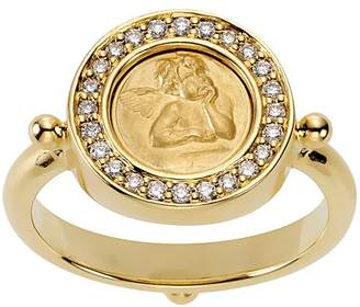 Temple St. Clair 18K Yellow Gold Angel Ring with Pavé Diamonds