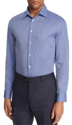 Emporio Armani Tonal Cross Stitch Regular Fit Button-Down Shirt