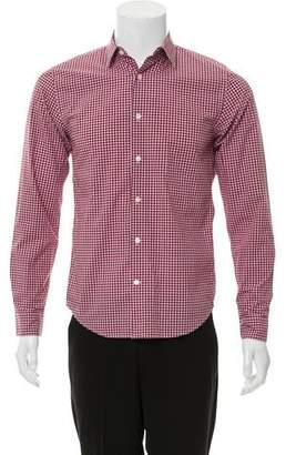 Vince Gingham Button-Up Shirt