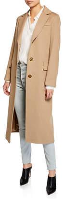Fleurette Wool Three-Button Maxi Coat