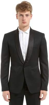 Alexander McQueen Mohair Wool Barathea Tuxedo Jacket