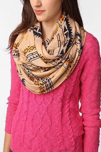 Staring at Stars Geo Print Eternity Scarf