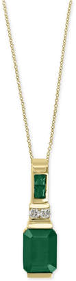 Effy Brasilica by Emerald (1-5/8 ct. t.w.) and Diamond Accent Pendant Necklace in 14k Gold