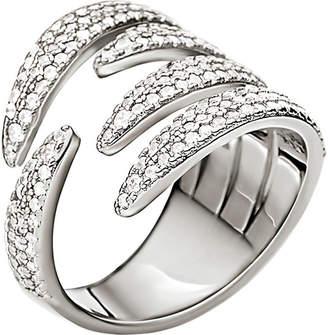 Folli Follie Fashionably sterling silver crystal knots ring