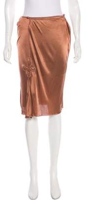 Saint Laurent Knee-Length Slip Skirt w/ Tags