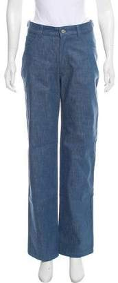 MAISON KITSUNÉ Mid-Rise Straight-Leg Jeans