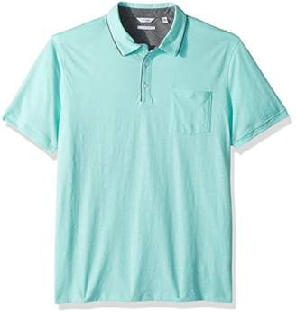 Calvin Klein Men's Short Sleeve Multicount Polo with Tipped Self Collar