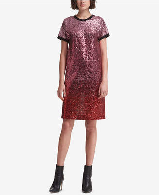 DKNY Sequin T-Shirt Dress