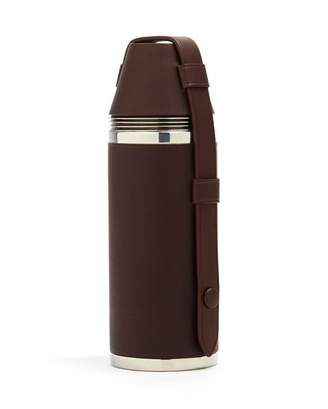 Dunhill Hunter's Leather And Stainless Steel Hip Flask - Brown