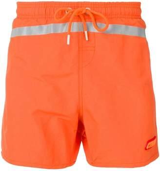Heron Preston reflective stripe swim shorts