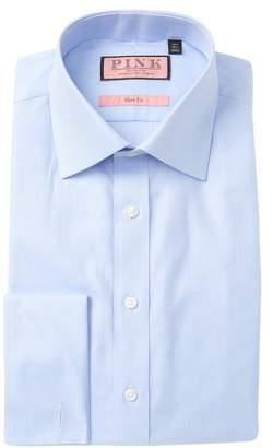 Thomas Pink Solid Twill Slim Fit Dress Shirt