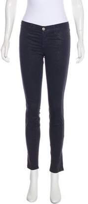J Brand Mid-Rise Metallic Jeans