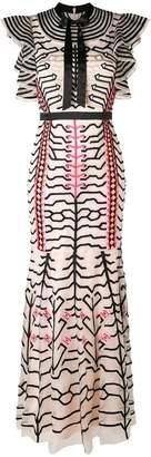 Temperley London embroidered geometric dress