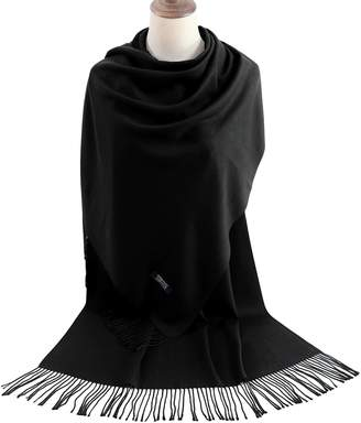 MissShorthair Womens Pashmina Scarf Shawls and Wraps For Wedding Evening Dresses (, 8#Heather Grey)