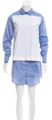 Thakoon Oxford Paneled Shirtdress