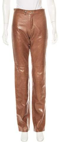 Ralph Lauren Embossed Leather Pants