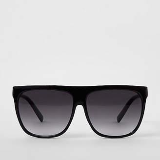 836aff32a6 River Island Womens Black flat top visor sunglasses