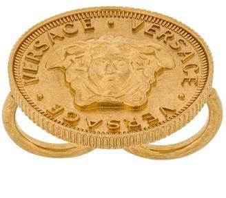 Versace Medusa coin ring