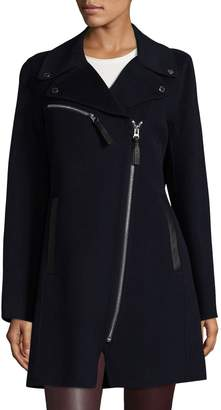 Derek Lam 10 Crosby Women's Notch Lapel Long Coat