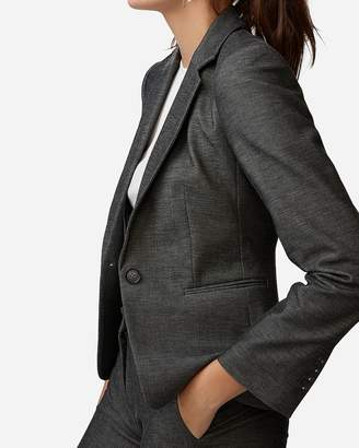 Express Notch Collar One Button Blazer