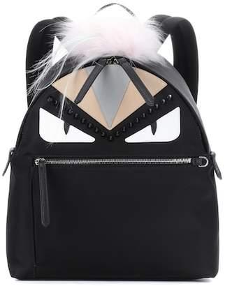 Fendi Fur-trimmed backpack