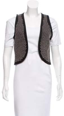 Torn By Ronny Kobo Leather Embellished Vest