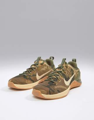 Nike Training Metcon dsx Flyknit 2 sneakers in camo 924423-300