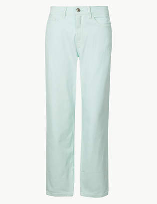 159522cd6ca911 M&S CollectionMarks and Spencer High Waist Straight Leg Cropped Jeans