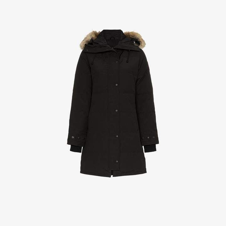 Shelburne coyote fur trimmed feather down parka
