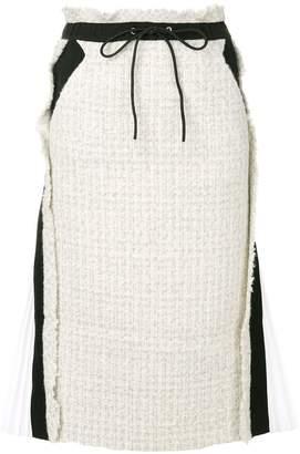 Sacai tweed pencil skirt