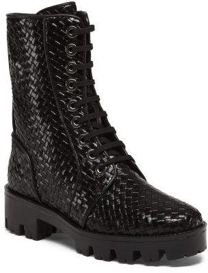 Made In Spain Leather Combat Boots