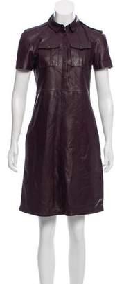 Burberry Knee-Length Leather Dress
