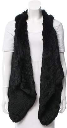 Jocelyn Knit Fur Vest
