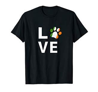 Irish Flag Dog Paw Love T-Shirt