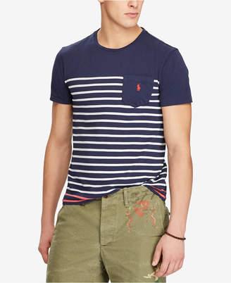 Polo Ralph Lauren Men's Classic Fit Striped Pocket T-Shirt