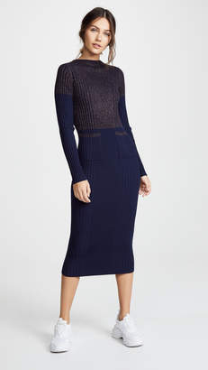 Kenzo Fitted Midi Sweater Dress