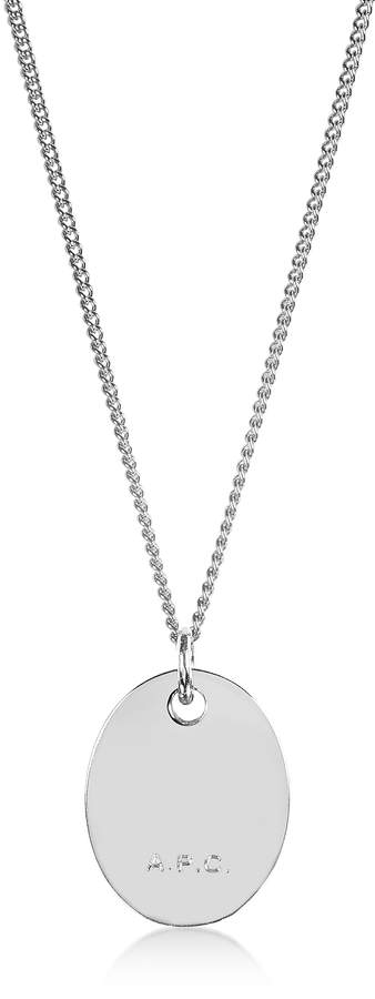A.P.C. Hannaelle Oval Pendant Necklace