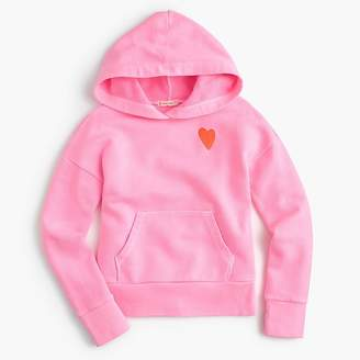 J.Crew Girls' heart embroidered hoodie