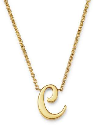 Roberto Coin 18K Yellow Gold Cursive Initial Necklace, 16""