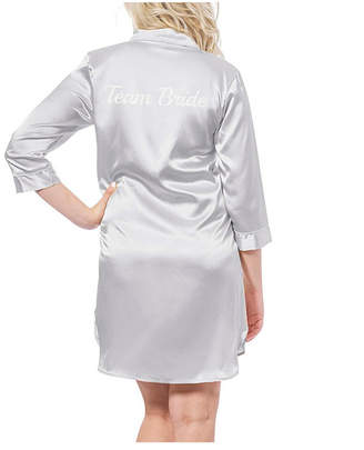 Cathy's Concepts Cathy Concepts Team Bride Silver Satin Night Shirt
