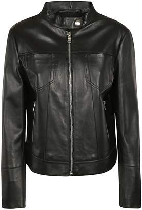 Sportmax Code Zip-up Leather Jacket
