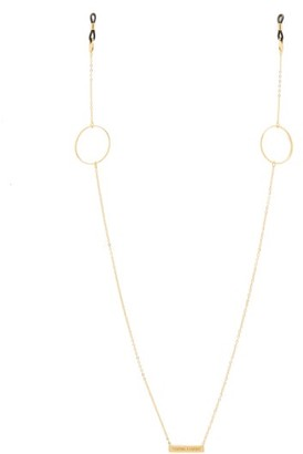 Frame Chain - Loop De Loop Gold Plated Glasses Chain - Womens - Yellow Gold